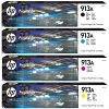 Original HP 913A CMYK Multipack Ink Cartridges (L0R95AE / F6T77AE / F6T78AE / F6T79AE)