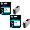 Original HP 920 Black Twin Pack Ink Cartridges (CD971AE)