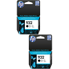 Original HP 932 Black Twin Pack Ink Cartridges (CN057AE)