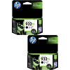 Original HP 932XL Black Twin Pack High Capacity Ink Cartridges (CN053AE)
