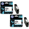 Original HP 934 Black Twin Pack Ink Cartridges (C2P19AE)