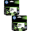 Original HP 950XL Black Twin Pack High Capacity Ink Cartridges (CN045AE)