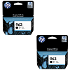 Original HP 963 Black Twin Pack Ink Cartridges (3JA26AE)