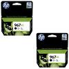 Original HP 967XL Black Twin Pack Extra High Capacity Ink Cartridges (3JA31AE)
