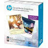 Original HP Social Media Snapshots 10x13cm Removable Sticky Photo Paper - 25 sheets (W2G60A)