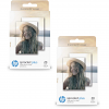 Original HP ZINK Sticky-Backed 5.8 x 8.7cm / 2.3 x 3.4inch Photo Paper Twin Pack - 40 Sheets (2LY72A)