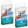 Original HP ZINK Sticky-backed 2x3inch Photo Paper Twin Pack - 40 Sheet Pack (W4Z13A)
