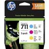 Original HP 711 Cyan Magenta Yellow Multipack Ink Cartridge (P2V32A)