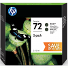 Original HP 72 Matte Black Twin Pack High Capacity Ink Cartridges (P2V33A)