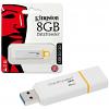 Original Kingston Data Traveler G4 8GB Yellow/White USB 3.0 Flash Drive (DTIG4/8GB)
