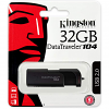 Original Kingston DataTraveler 104 32GB Black USB 2.0 Flash Drive (DT104/32GB)