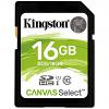 Original Kingston Canvas Select Class 10 16GB SD Memory Card (SDS/16GB)