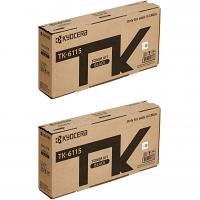 Original Kyocera TK-6115 Black Twin Pack Toner Cartridges (TK-6115)