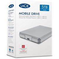 Original LaCie Mobile Drive 5TB USB 3.0 External Hard Drive (STHG5000400)