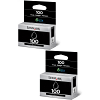 Original Lexmark 100 Black Twin Pack Ink Cartridges (14N0820E)