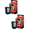 Original Lexmark 23 Black Twin Pack Ink Cartridges (18C1523E)