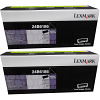 Original Lexmark 24B6186 Black Twin Pack Toner Cartridges (24B6186)