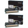 Original Lexmark 24B6326 Black Twin Pack High Capacity Toner Cartridges (24B6326)