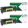 Original Lexmark 24B6888 Black Twin Pack Extra High Capacity Toner Cartridges (24B6888)