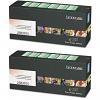 Original Lexmark 25B3101 Black Twin Pack Toner Cartridges (25B3101)