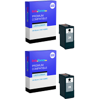 Premium Compatible Lexmark 28 Black Twin Pack Ink Cartridges (18C1428E)