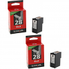 Original Lexmark 28 Black Twin Pack Ink Cartridges (18C1428E)