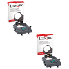 Original Lexmark 3070166 Twin Pack Ink Ribbons (3070166)