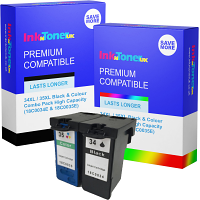 Compatible Lexmark 34XL / 35XL Black & Colour Combo Pack High Capacity Ink Cartridges (18C0034E & 18C0035E)