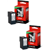 Original Lexmark 36 Black Twin Pack Ink Cartridges (18C2130E)