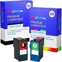 Premium Compatible Lexmark 4 / 5 Black & Colour Combo Pack Ink Cartridges (018C1954E & 018C1960E)