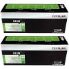 Original Lexmark 512H Black Twin Pack High Capacity Toner Cartridges (51F2H00)