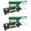 Original Lexmark 56F2X00 Black Twin Pack Extra High Capacity Toner Cartridges (56F2X00)