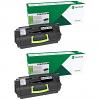 Original Lexmark 63B2H00 Black Twin Pack High Capacity Toner Cartridges (63B2H00)