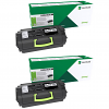 Original Lexmark 63B2X00 Black Twin Pack Extra High Capacity Toner Cartridges (63B2X00)