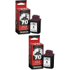 Original Lexmark 70 Black Twin Pack High Capacity Ink Cartridges (12AX970E)