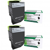 Original Lexmark 71B20K0 Black Twin Pack Toner Cartridges (71B20K0)