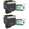 Original Lexmark 71B2XK0 Black Twin Pack Extra High Capacity Toner Cartridges (71B2XK0)
