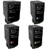Original Lexmark 74C2H CMYK Multipack Extra High Capacity Toner Cartridges (74C2HKE/CE/ME/YE)