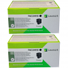 Original Lexmark 74C2HK0 Black Twin Pack Extra High Capacity Toner Cartridges (74C2HKE)
