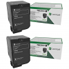 Original Lexmark 75B20K0 Black Twin Pack Toner Cartridges (75B20K0)