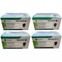 Original Lexmark 78C20 CMYK Multipack Toner Cartridges (78C20K0/ 78C20C0/ 78C20M0/ 78C20Y0)