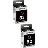 Original Lexmark 82 Black Twin Pack Ink Cartridges (18L0032E)