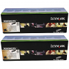Original Lexmark X850H21G Black Twin Pack Toner Cartridges (X850H21G)