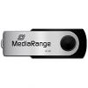 Original MediaRange Black/Silver 8GB USB 2.0 Flash Drive (MR908)