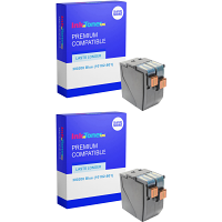 Premium Remanufactured Neopost 300208 Blue Twin Pack Franking Ink Cartridges (10182-801)