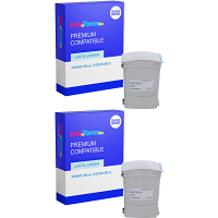 Premium Compatible Neopost 300485 Blue Twin Pack Franking Ink Cartridges (10399-801)