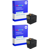 Premium Remanufactured Neopost 310050 Blue Twin Pack Franking Ink Cartridges (10244-801)