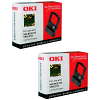 Original OKI 09002316 Black Twin Pack Nylon Ink Ribbons (09002316)