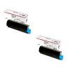 Original OKI 44643004 Black Twin Pack Toner Cartridges (44643004)