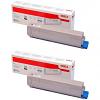 Original OKI 46471116 Black Twin Pack Toner Cartridges (46471116)
